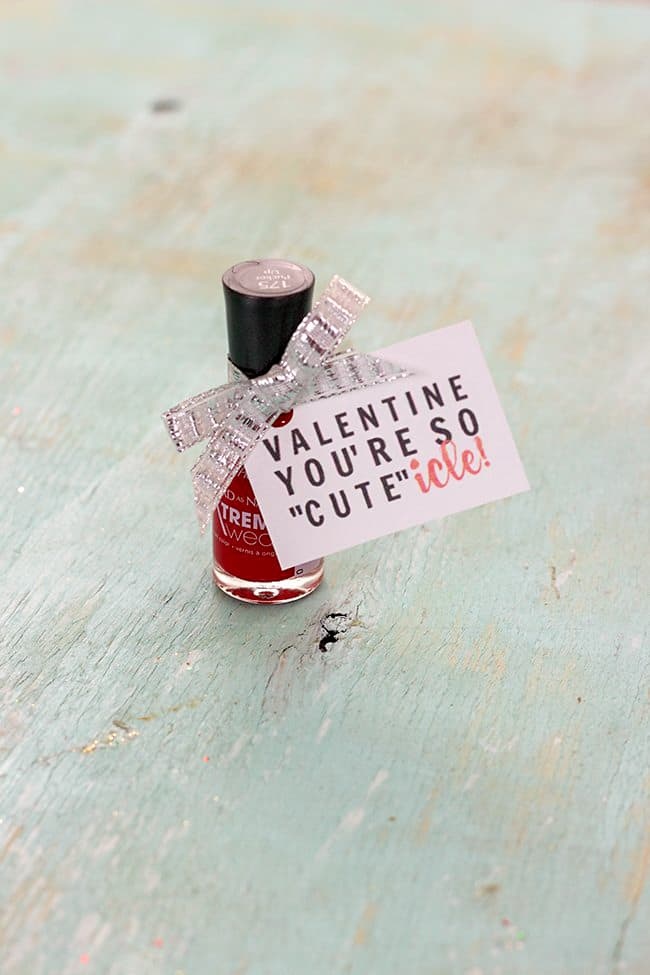 nail polish valentine idea