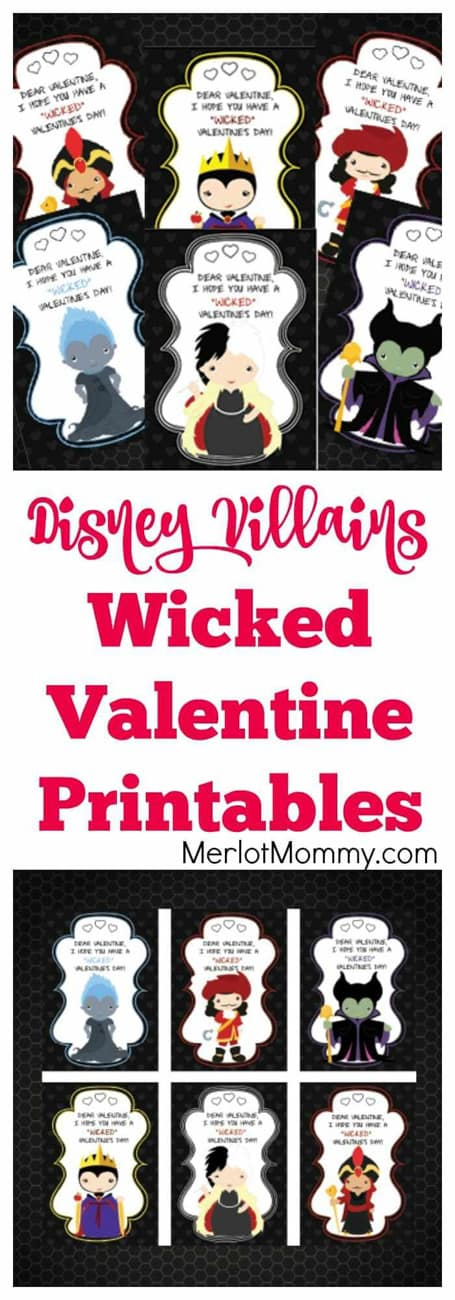 Disney villians printable valentine cards free