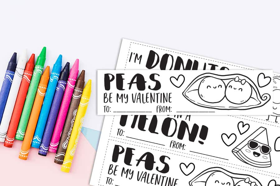 homemade crayons with coloring sheet valentines