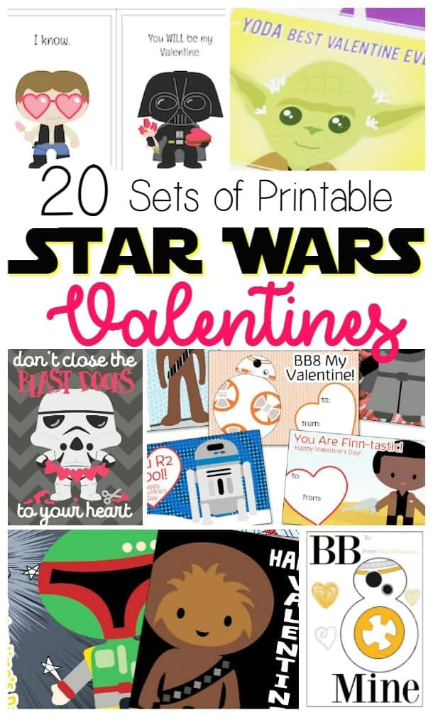 homemade star wars valentine printables