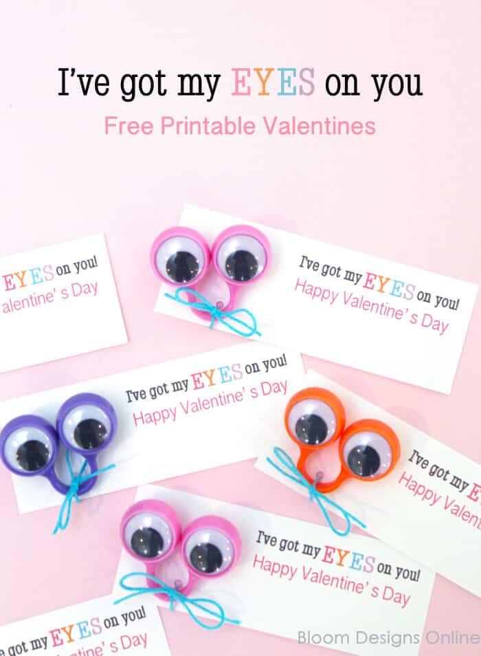 diy eyeball ring free valentine printables