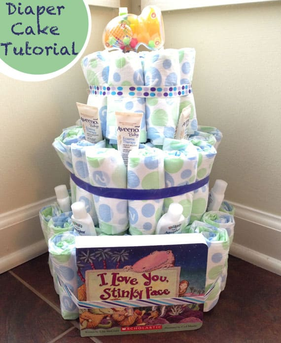 how to make a toilet paper diaper cake