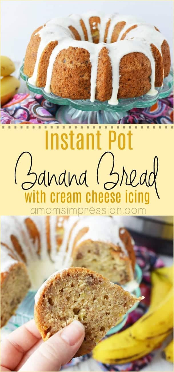 banana bread made in instant pot
