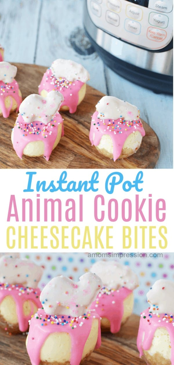 Instant Pot cheesecake bites pink