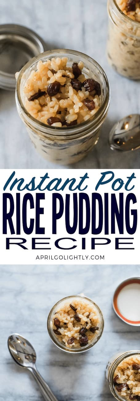 rice pudding made in instant pot