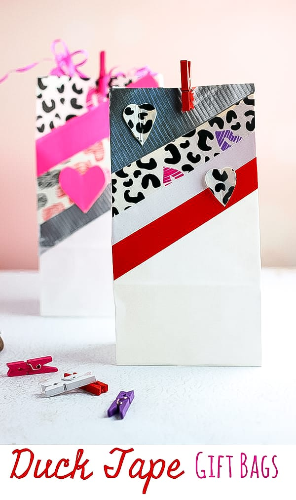 decorated valentine gift bags