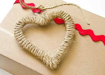 twine wrapped heart