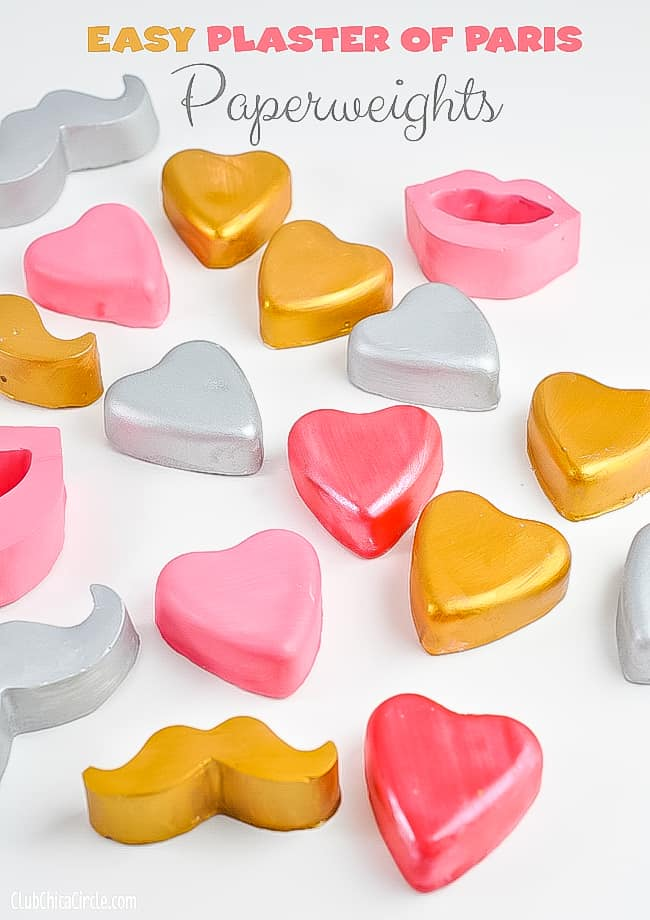 valentine paperweights from plaster of paris