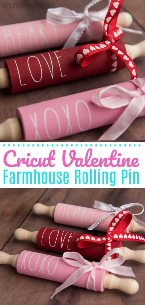 decorated rolling pins with vinyl cut cricut