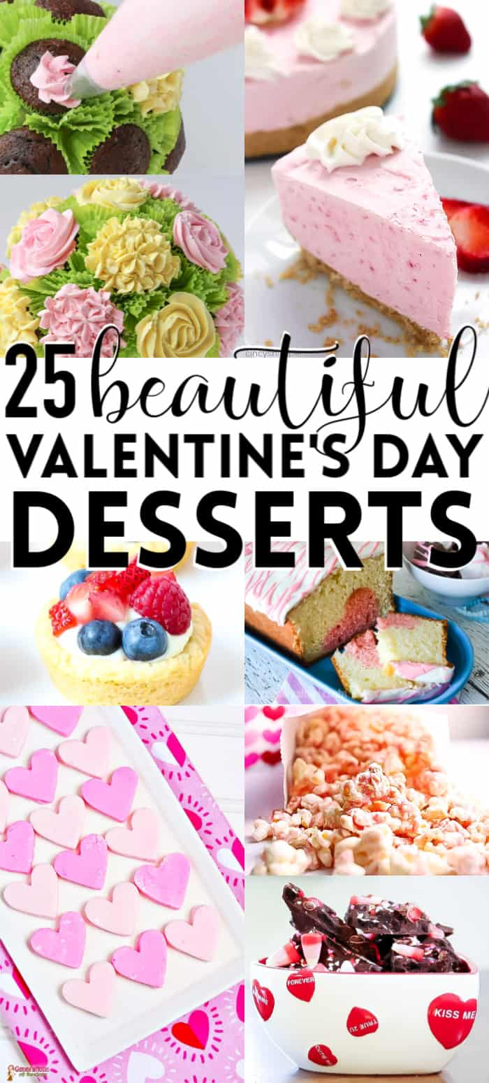 Valentines day desserts photo collage