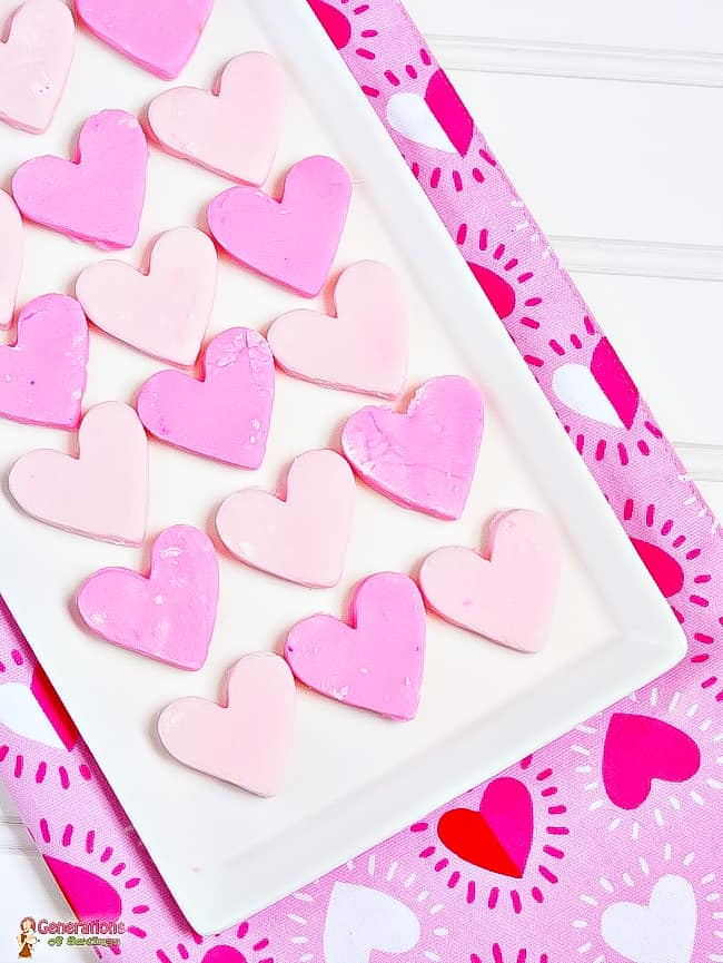 heart shaped cream cheese mints for valentine's day