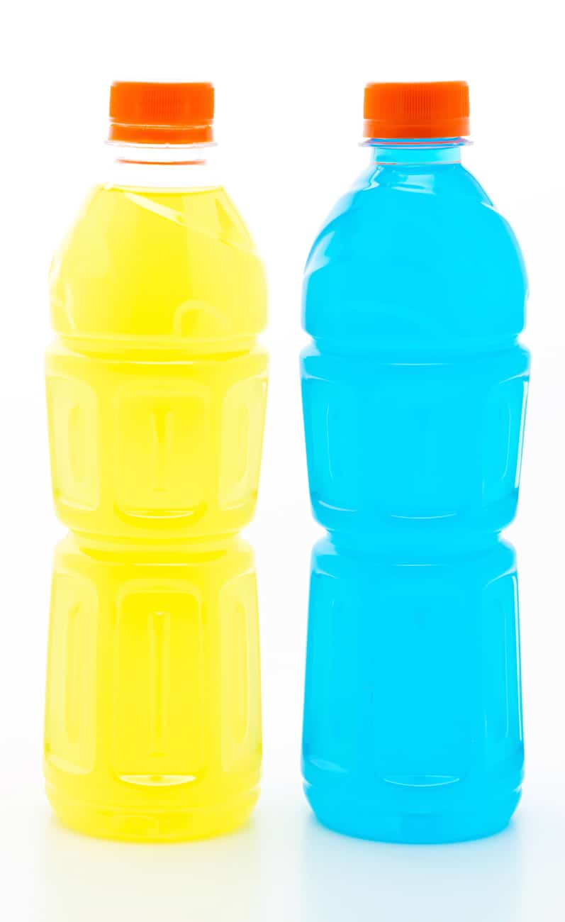 gatorade bottles with no label