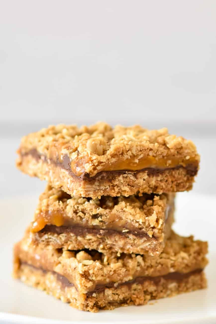stacked salted caramel bars