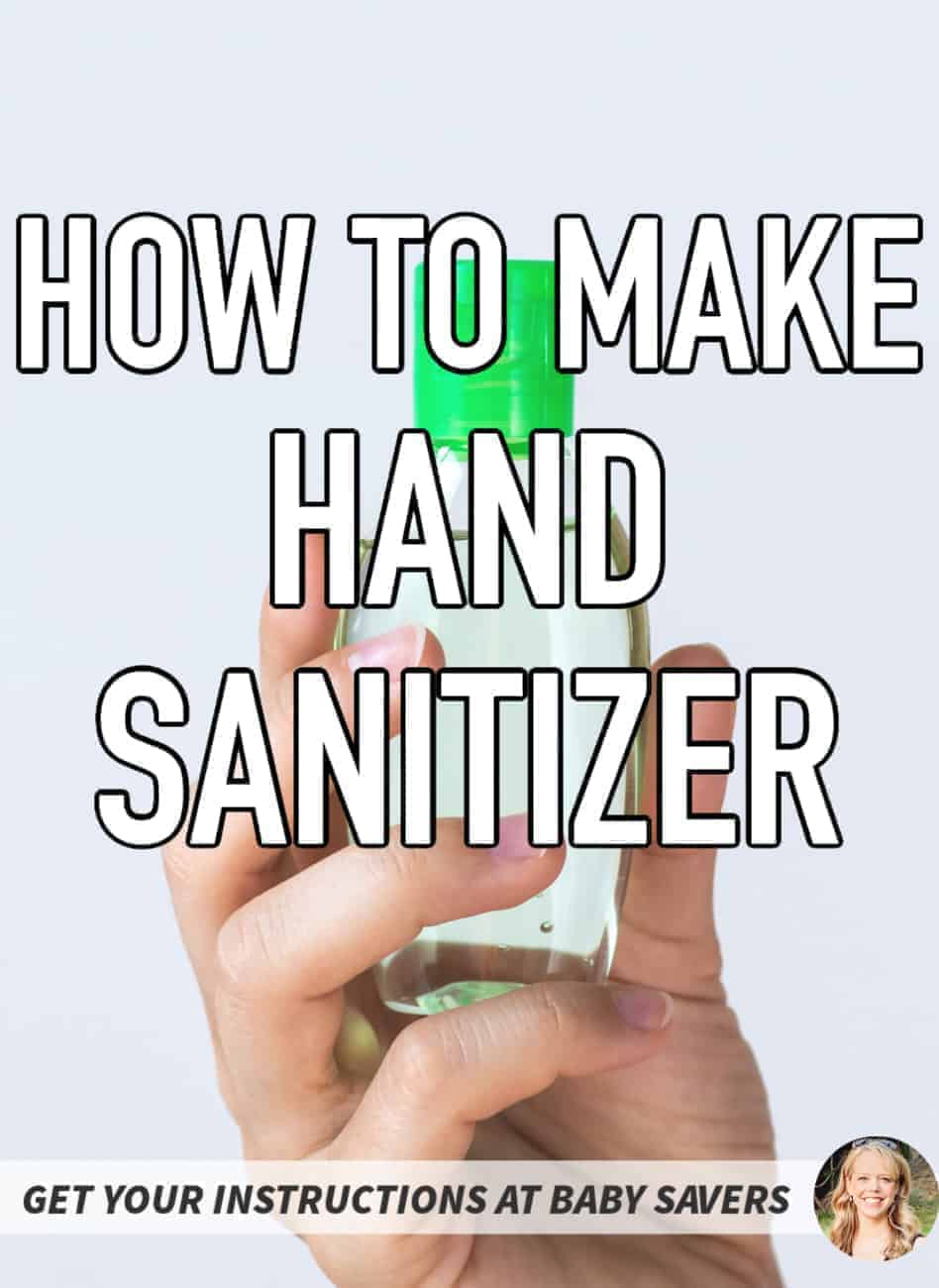 Homemade Hand Sanitizer DIY Purell