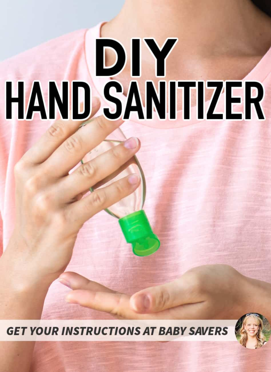 DIY HAND SANITIZER RECIPE PIN