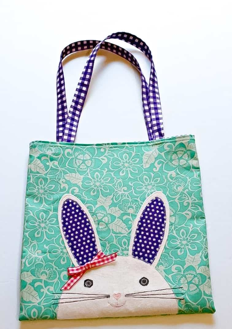 sewing pattern for easter bunny tote bag