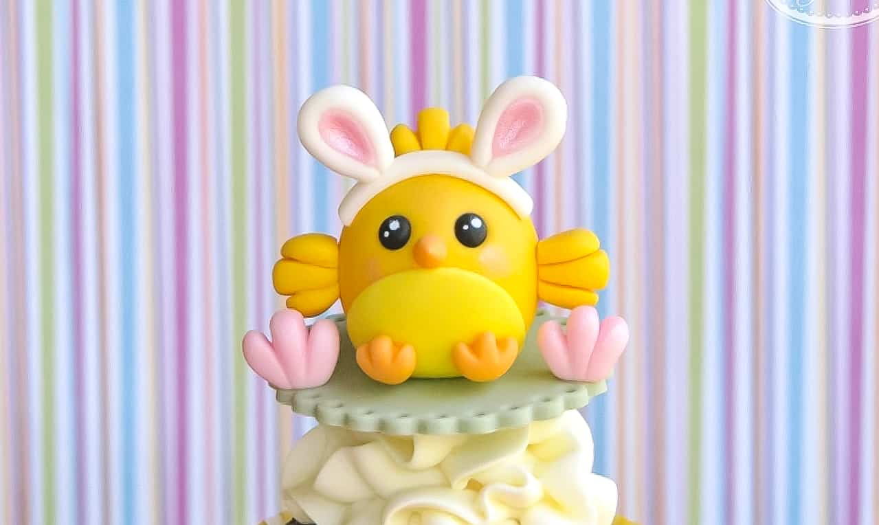 Easter chick cupcake topper