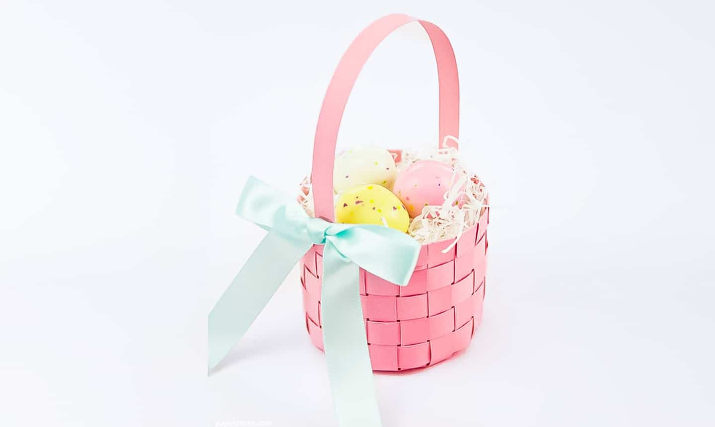 homemade woven easter basket for kids