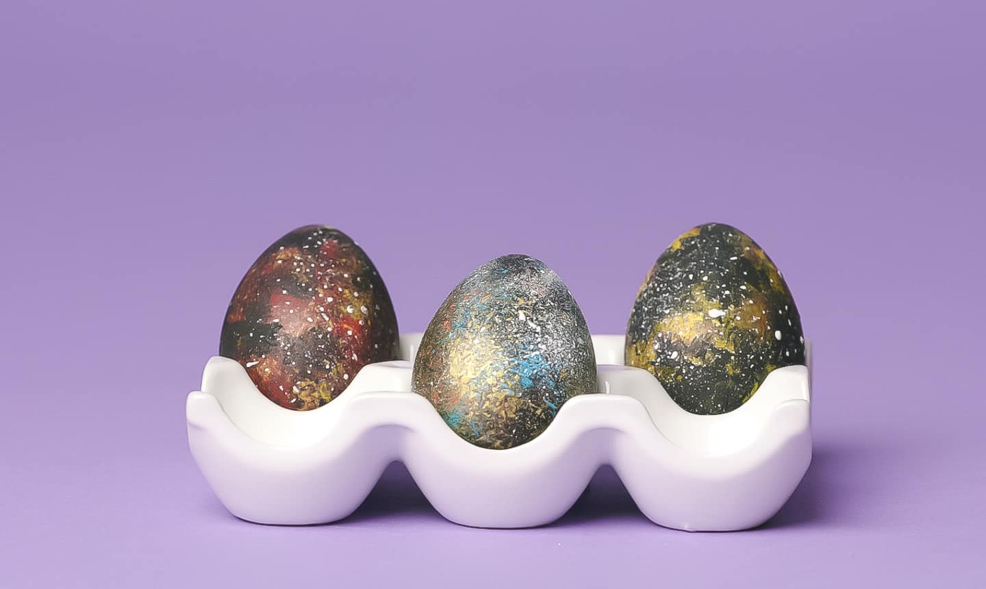 space galaxy easter eggs