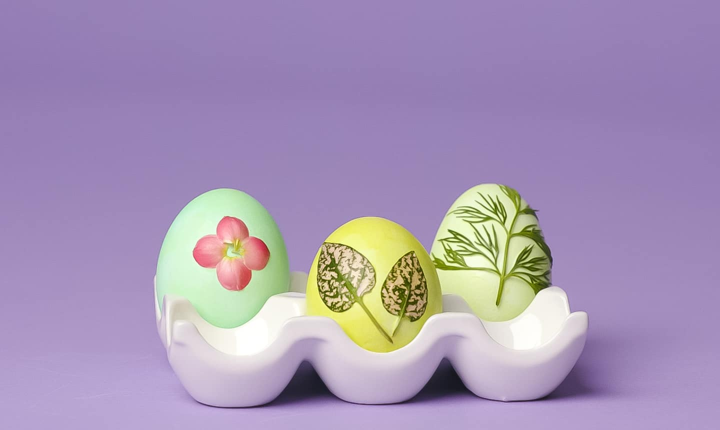 nature decorated easter eggs for kids
