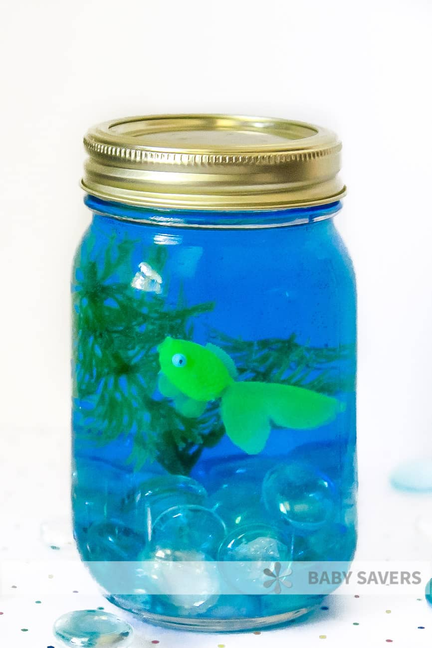 homemade mason jar aquarium kids activity