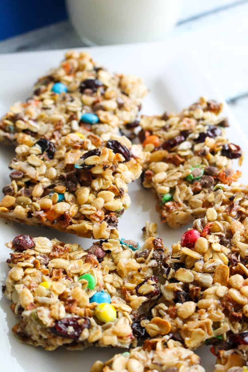 easy homemade crunchy granola bars