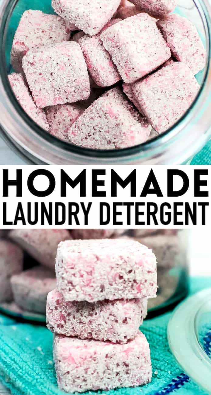 PINK PODS OF DIY LAUNDRY DETERGENT TABLETS