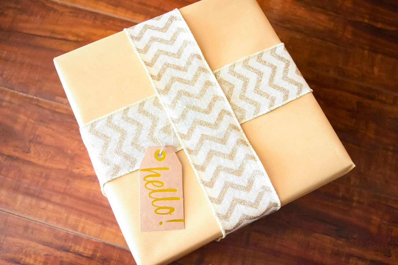 homemade decorated gifts to match gold and white christmas tree