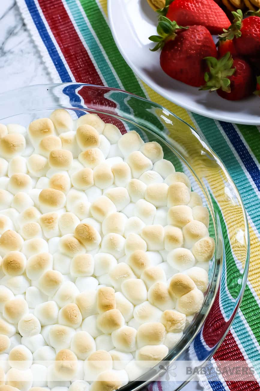 toasted marshmallow s'mores dip