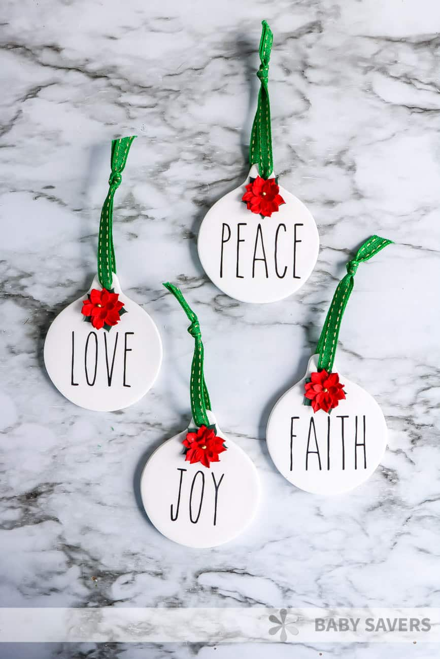Rae Dunn inspired ornaments how to tutorial