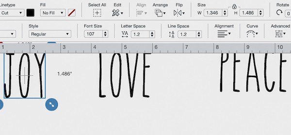 Rae dunn font for Cricut design space