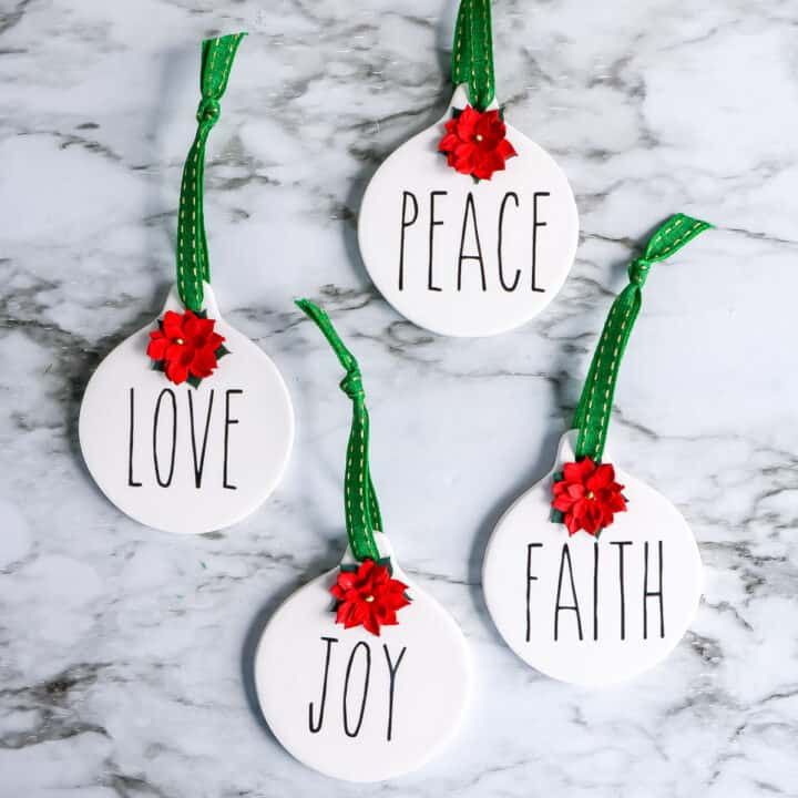 Rae Dunn Inspired ornaments directions
