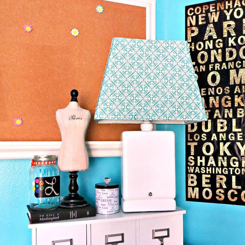 how to cover a lampshade with fabric