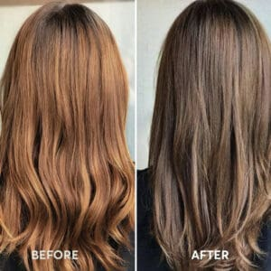 Madison Reed Reviews Before and After Veneto Light Brown hair color