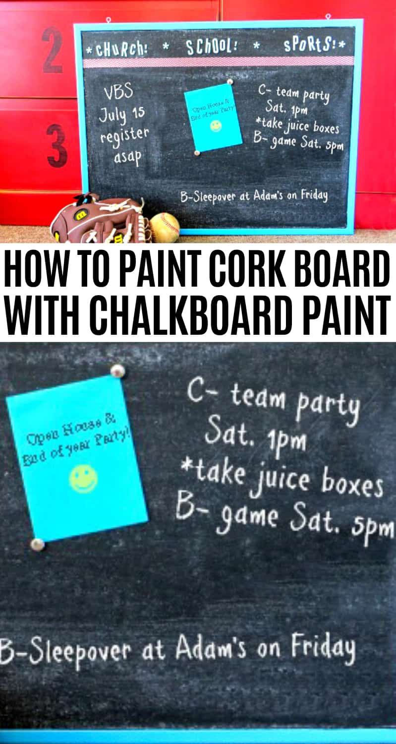 how to paint cork board with chalk paint