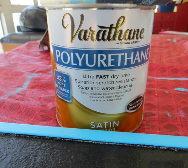 Polyurethane can to apply over framed cork board