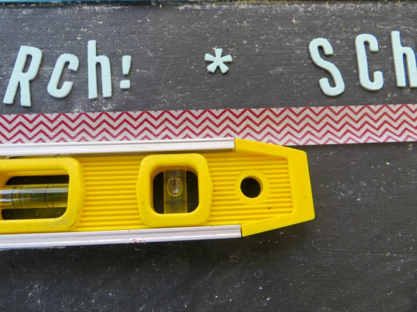 DIY painted cork board chalk board decorated with washi tape