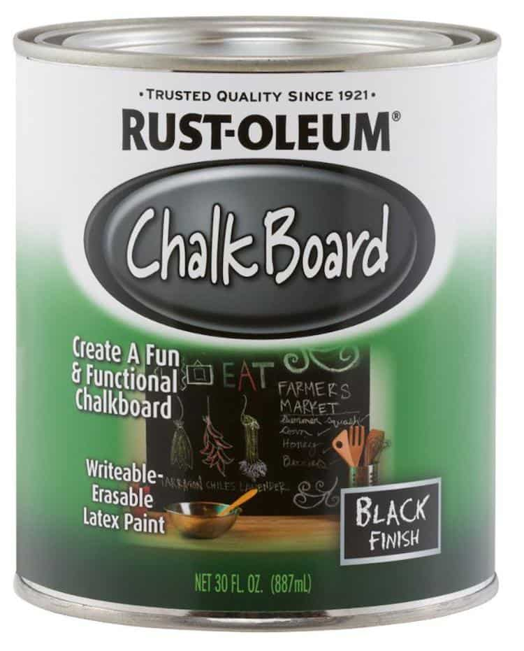 chalkboard paint for cork board