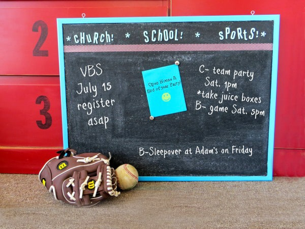 How to paint cork board with chalkboard paint