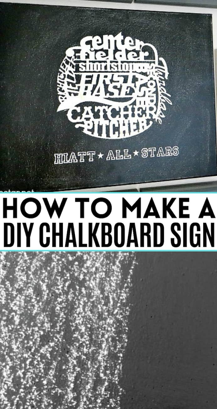 collage with text How to make a DIY chalkboard sign