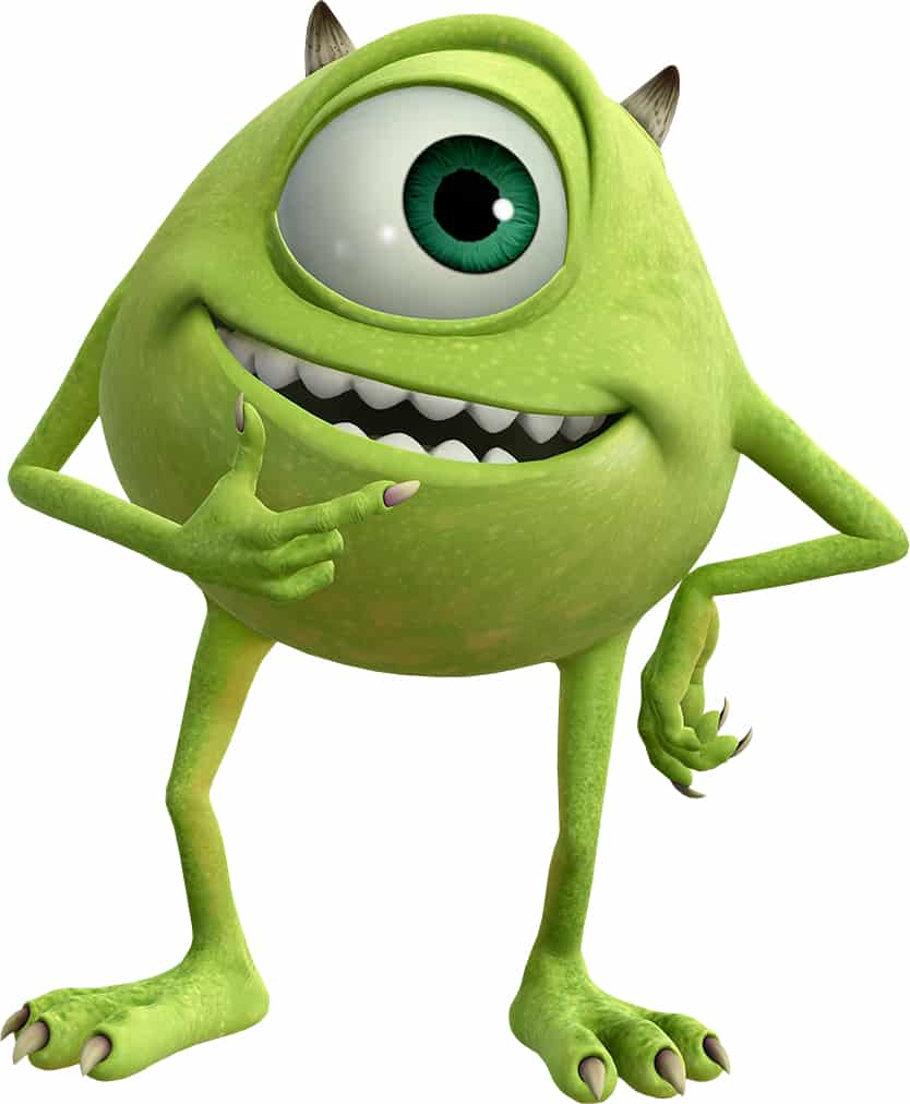 Mike Wazowski from Disney Pixar's Monsters Inc and Monsters University