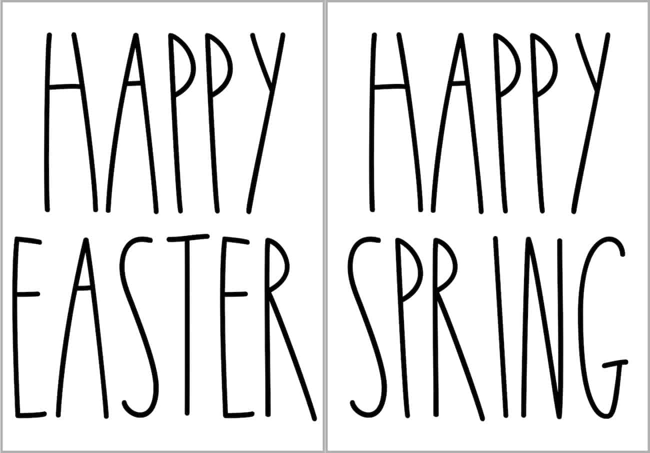 Easter SVGs done in Rae Dunn Font for homemade easter egg decorations
