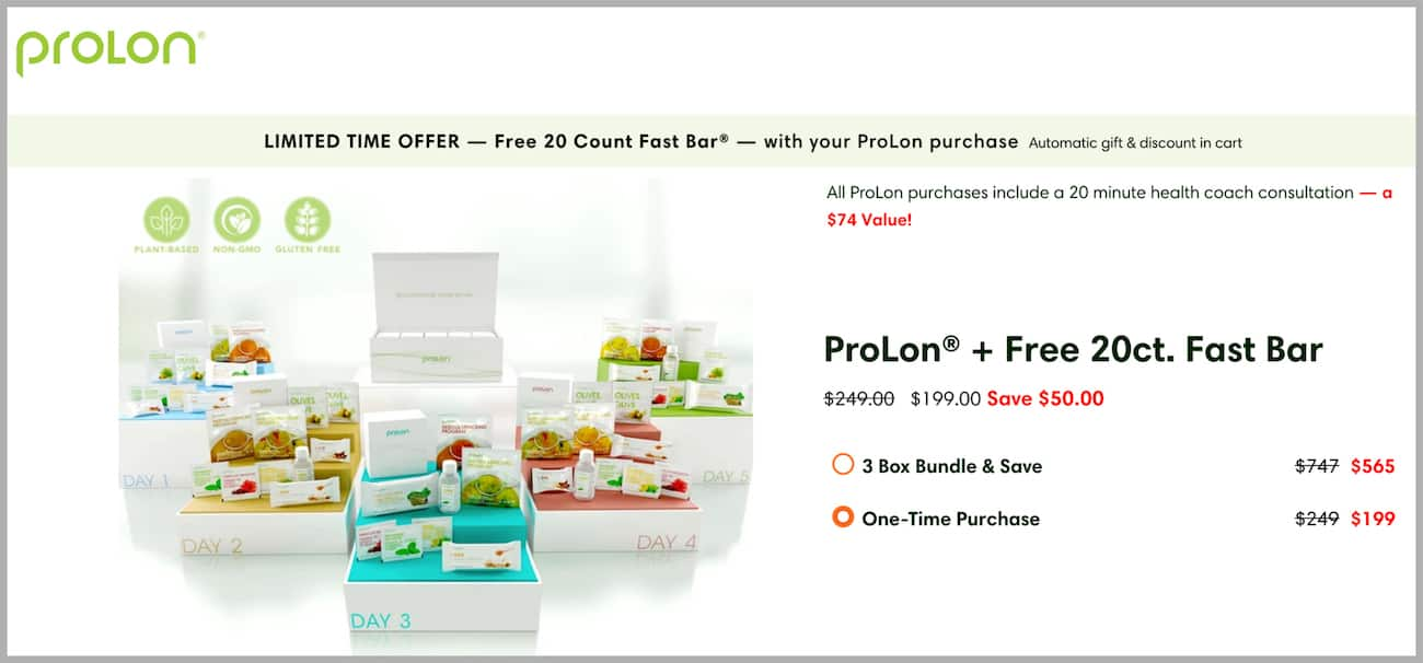 Prolon fast mimicking diet promo code and discounts