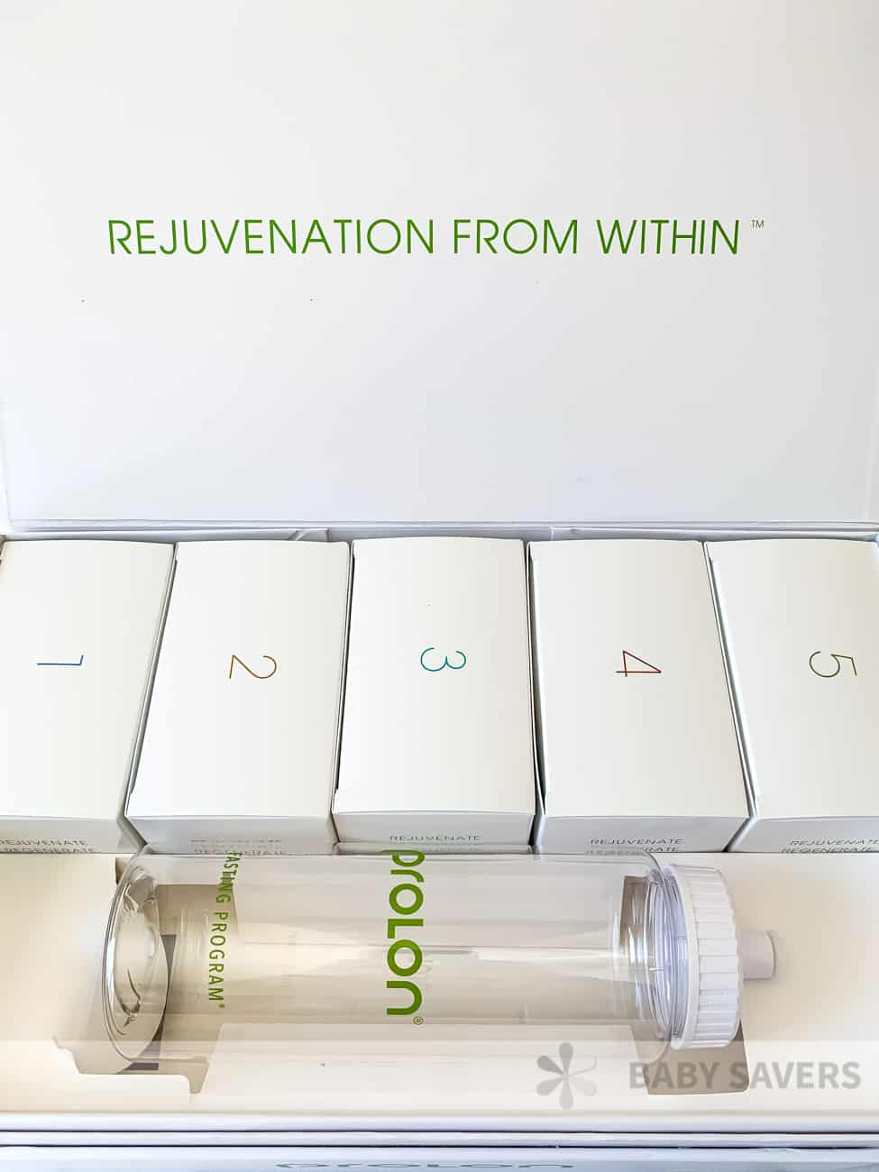 Prolon reviews: everything in the 5 day prolon fasting diet box with a water water bottle