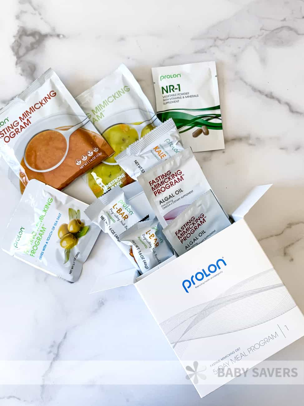 prolon review: everything in the day 1 box of the fasting mimicking diet
