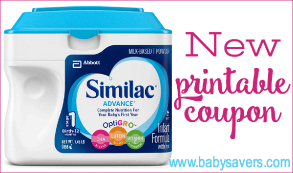 5 similac printable coupon