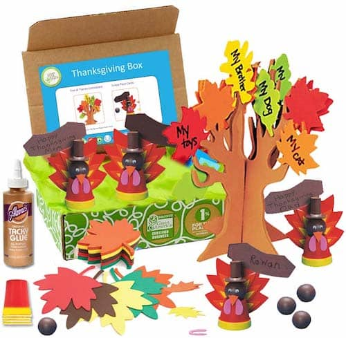 Greenkidcrafts.com review what's in the thanksgiving box