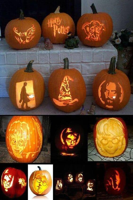 Harry potter pumpkin carving patterns