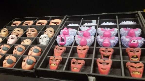 3D printing was used to create the different facial expressions for the puppets. They are cataloged and the animators will request certain pieces per scene and then physically change the out.