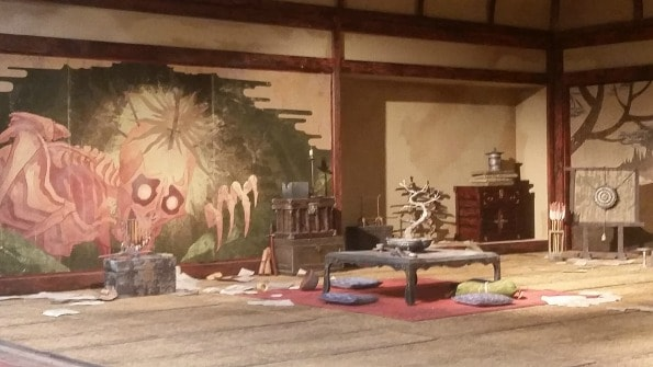Although this looks like a real room, it is actually a miniature version of one. It is one of the sets of the movie!